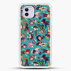 Plus Ultra Pattern iPhone 11 Case, White Rubber Case | JoeYellow.com