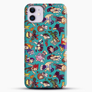 Plus Ultra Pattern iPhone 11 Case, Black Snap 3D Case | JoeYellow.com