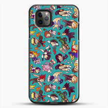 Load image into Gallery viewer, Plus Ultra Pattern iPhone 11 Pro Max Case, Black Plastic Case | JoeYellow.com