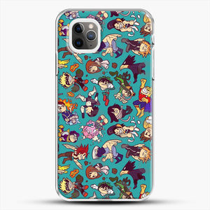 Plus Ultra Pattern iPhone 11 Pro Max Case, White Plastic Case | JoeYellow.com