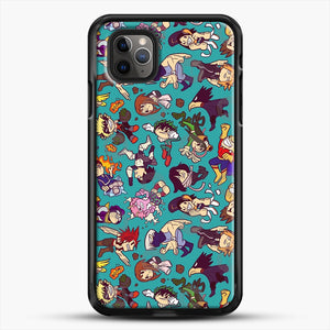 Plus Ultra Pattern iPhone 11 Pro Max Case, Black Rubber Case | JoeYellow.com