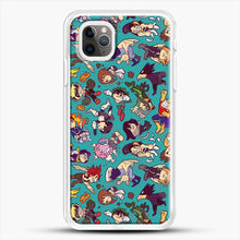 Load image into Gallery viewer, Plus Ultra Pattern iPhone 11 Pro Max Case, White Rubber Case | JoeYellow.com