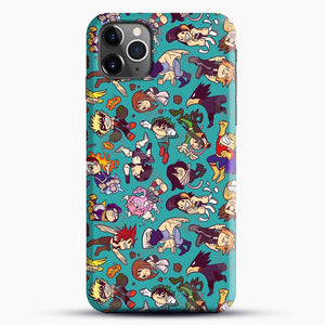 Plus Ultra Pattern iPhone 11 Pro Max Case, Black Snap 3D Case | JoeYellow.com