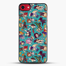 Load image into Gallery viewer, Plus Ultra Pattern iPhone 8 Case, Black Plastic Case | JoeYellow.com