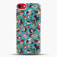 Load image into Gallery viewer, Plus Ultra Pattern iPhone 8 Case, White Plastic Case | JoeYellow.com