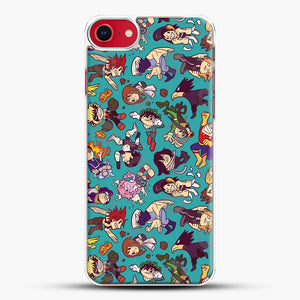 Plus Ultra Pattern iPhone 8 Case, White Plastic Case | JoeYellow.com