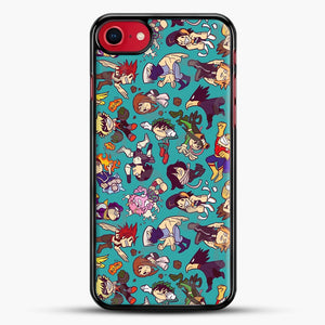 Plus Ultra Pattern iPhone 8 Case, Black Rubber Case | JoeYellow.com