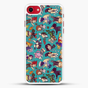 Plus Ultra Pattern iPhone 8 Case, White Rubber Case | JoeYellow.com