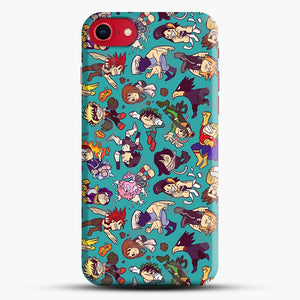 Plus Ultra Pattern iPhone 8 Case, Black Snap 3D Case | JoeYellow.com