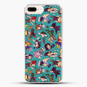 Plus Ultra Pattern iPhone 8 Plus Case, White Plastic Case | JoeYellow.com