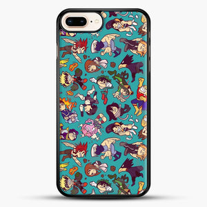 Plus Ultra Pattern iPhone 8 Plus Case, Black Rubber Case | JoeYellow.com