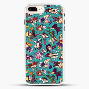 Plus Ultra Pattern iPhone 8 Plus Case, White Rubber Case | JoeYellow.com