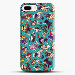 Plus Ultra Pattern iPhone 8 Plus Case, Black Snap 3D Case | JoeYellow.com