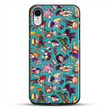 Load image into Gallery viewer, Plus Ultra Pattern iPhone XR Case, Black Plastic Case | JoeYellow.com