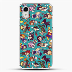 Plus Ultra Pattern iPhone XR Case, White Plastic Case | JoeYellow.com