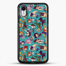 Load image into Gallery viewer, Plus Ultra Pattern iPhone XR Case, Black Rubber Case | JoeYellow.com