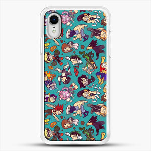 Plus Ultra Pattern iPhone XR Case, White Rubber Case | JoeYellow.com