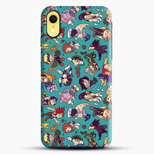 Plus Ultra Pattern iPhone XR Case, Black Snap 3D Case | JoeYellow.com
