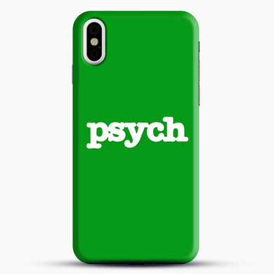Psych iPhone X Case, Black Snap 3D Case | JoeYellow.com