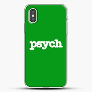 Psych iPhone XS Case, White Plastic Case | JoeYellow.com