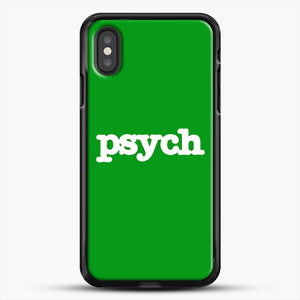 Psych iPhone XS Case, Black Rubber Case | JoeYellow.com