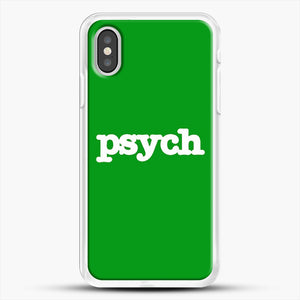 Psych iPhone XS Case, White Rubber Case | JoeYellow.com