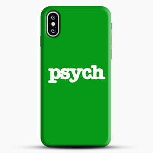 Psych iPhone XS Case, Black Snap 3D Case | JoeYellow.com