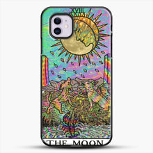 Load image into Gallery viewer, Psychadelic Tarot The Moon iPhone 11 Case, Black Plastic Case | JoeYellow.com