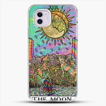 Load image into Gallery viewer, Psychadelic Tarot The Moon iPhone 11 Case, White Plastic Case | JoeYellow.com