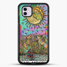 Load image into Gallery viewer, Psychadelic Tarot The Moon iPhone 11 Case, Black Rubber Case | JoeYellow.com