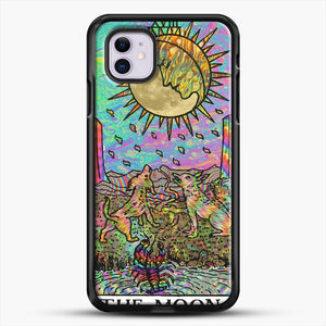 Psychadelic Tarot The Moon iPhone 11 Case, Black Rubber Case | JoeYellow.com