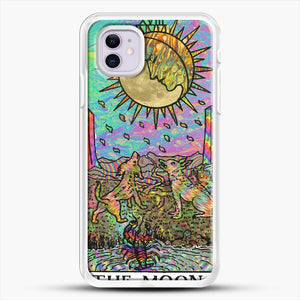 Psychadelic Tarot The Moon iPhone 11 Case, White Rubber Case | JoeYellow.com