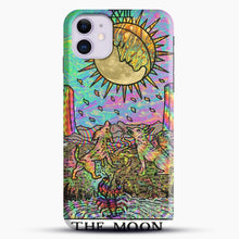 Load image into Gallery viewer, Psychadelic Tarot The Moon iPhone 11 Case, Black Snap 3D Case | JoeYellow.com