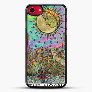 Psychadelic Tarot The Moon iPhone 8 Case, Black Rubber Case | JoeYellow.com