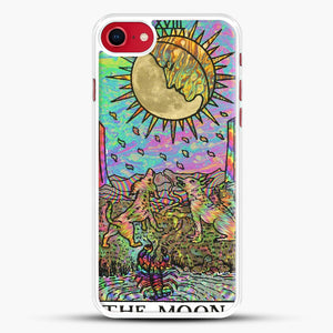Psychadelic Tarot The Moon iPhone 8 Case, White Rubber Case | JoeYellow.com