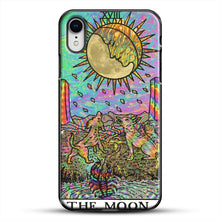 Load image into Gallery viewer, Psychadelic Tarot The Moon iPhone XR Case, Black Plastic Case | JoeYellow.com