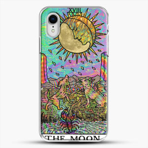 Psychadelic Tarot The Moon iPhone XR Case, White Plastic Case | JoeYellow.com
