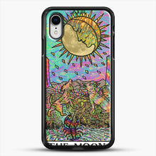 Load image into Gallery viewer, Psychadelic Tarot The Moon iPhone XR Case, Black Rubber Case | JoeYellow.com