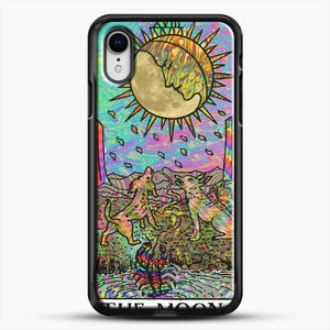 Psychadelic Tarot The Moon iPhone XR Case, Black Rubber Case | JoeYellow.com