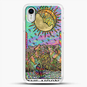 Psychadelic Tarot The Moon iPhone XR Case, White Rubber Case | JoeYellow.com