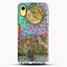 Load image into Gallery viewer, Psychadelic Tarot The Moon iPhone XR Case, Black Snap 3D Case | JoeYellow.com