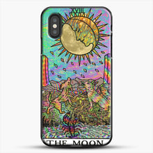 Load image into Gallery viewer, Psychadelic Tarot The Moon iPhone XS Case, Black Plastic Case | JoeYellow.com
