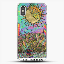 Load image into Gallery viewer, Psychadelic Tarot The Moon iPhone XS Case, White Plastic Case | JoeYellow.com