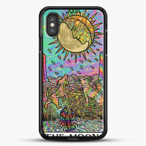 Psychadelic Tarot The Moon iPhone XS Case, Black Rubber Case | JoeYellow.com