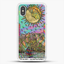 Load image into Gallery viewer, Psychadelic Tarot The Moon iPhone XS Case, White Rubber Case | JoeYellow.com