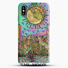 Load image into Gallery viewer, Psychadelic Tarot The Moon iPhone XS Case, Black Snap 3D Case | JoeYellow.com
