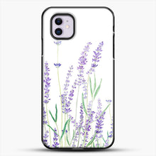 Load image into Gallery viewer, Purple Lavender iPhone 11 Case, Black Plastic Case | JoeYellow.com