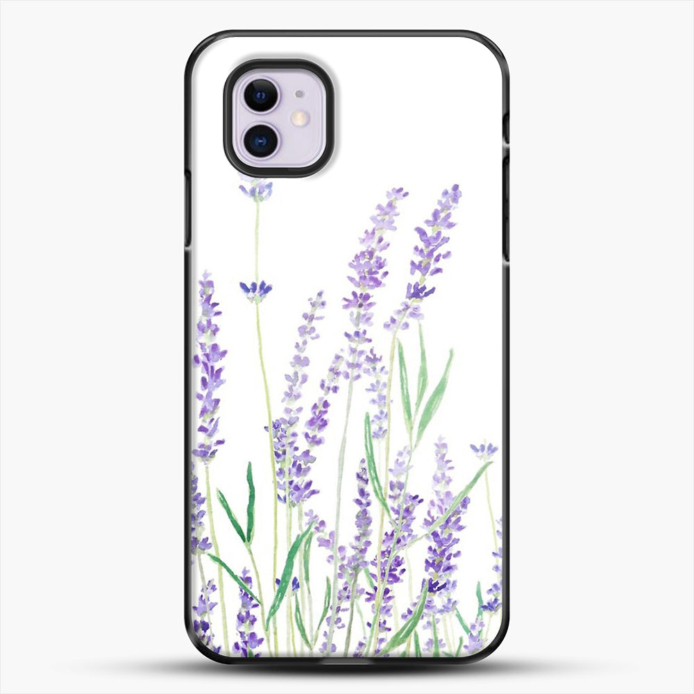 Purple Lavender iPhone 11 Case, Black Plastic Case | JoeYellow.com