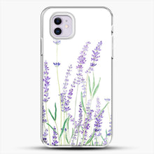 Load image into Gallery viewer, Purple Lavender iPhone 11 Case, White Plastic Case | JoeYellow.com