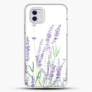 Purple Lavender iPhone 11 Case, White Plastic Case | JoeYellow.com